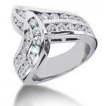 18K Gold Round Diamond Ladies Ring 1.61ct