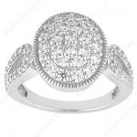 18K Gold Round Diamond Ladies Ring 1.65ct