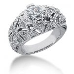18K Gold Round Diamond Ladies Ring 1.67ct