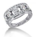 18K Gold Round Diamond Ladies Ring 1.72ct