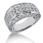 18K Gold Round Diamond Ladies Ring 1.76ct