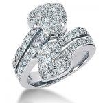 18K Gold Round Diamond Ladies Ring 1.83ct