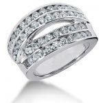 18K Gold Round Diamond Ladies Ring 1.84ct