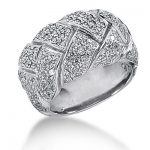 18K Gold Round Diamond Ladies Ring 1.91ct