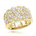 18K Gold Round Diamond Ladies Ring 2.02ct