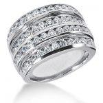 18K Gold Round Diamond Ladies Ring 2.12ct
