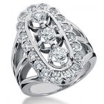18K Gold Round Diamond Ladies Ring 2.18ct