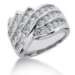 18K Gold Round Diamond Ladies Ring 2.22ct