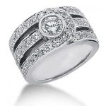 18K Gold Round Diamond Ladies Ring 2.28ct