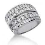 18K Gold Round Diamond Ladies Ring 2.40ct