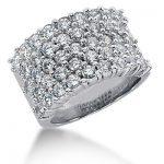 18K Gold Round Diamond Ladies Ring 2.58ct