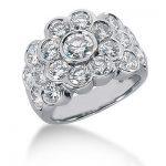 18K Gold Round Diamond Ladies Ring 3.56ct