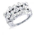 18K Gold Round Diamond Ladies Ring 3.75ct