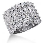 18K Gold Round Diamond Ladies Ring 4.50ct