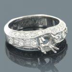 18K White Gold Diamond Engagement Ring Setting 0.82ct