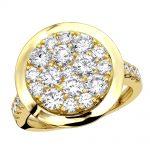 4 Carat Mens Diamond Engagement Ring 14k Gold