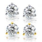 Diamond Stud Earrings 1/2 Carat (ctw) in 14K Gold