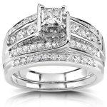Princess Diamond Bridal Set 1 CTW in Platinum