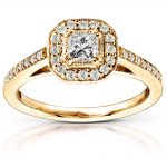 Diamond Engagement Ring 1/2 carat (ctw) in 14K Yellow Gold