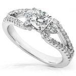Split-Shank Diamond Engagement Ring 3/4 carat (ctw) in 14k White Gold