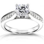 Diamond Engagement Ring 1 1/6 carat (ctw) in 14k White Gold (Certified)