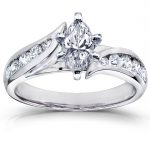 Marquise Diamond Engagement Ring 1 1/4 Carat (ctw) in 14k White Gold