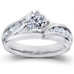 Round-Brilliant Diamond Bridal Set 1 Carat (ctw) in 14K White Gold