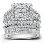 Diamond Engagement Ring and Wedding Band Set 2 4/5 carats (ctw) in 14K White Gold