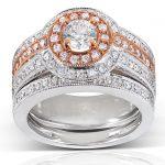 Round Diamond Bridal Set 1 1/4 Carat (ctw) in 14k Two-Tone Gold