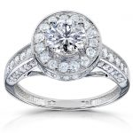 Round Diamond Engagement Ring 1 1/3 carat (ctw) in 14k White Gold