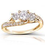 Round Diamond Engagement Ring 1 Carat (ctw) in 14k Gold