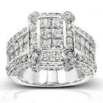 Princess Cut Diamond Engagement Ring 3 Carat (ctw) in 14k White Gold
