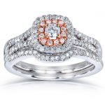Round-cut Diamond Bridal Ring Set 1/2 Carat (ctw) in 14k Gold