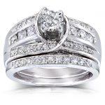 Round-cut Diamond Bridal Set 1 Carat (ctw) in 14k White Gold