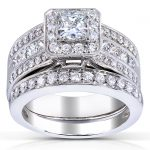 Princess-cut Diamond Bridal Set 1 5/8 Carat (ctw) in 14k White Gold