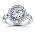 1 1/3 CTW IGI Certified Lab Grown Diamond Engagement Ring 14K White Gold