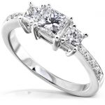 Diamond Three-Stone Engagement Ring 1 carat (ctw) in 14K White Gold