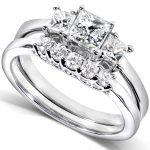 Diamond Wedding Ring Set 7/8 carat (ctw) in 14k White Gold