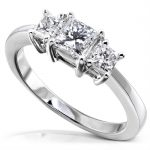 Diamond Three-Stone Engagement Ring 1 carat (ctw) in Platinum