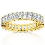 Princess Baguette Diamond Eternity Band 4 1/8 CTW in 14K Yellow Gold