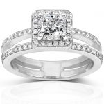 Radiant Diamond Engagement Ring 1 1/3 carat (ctw) in 14k White Gold (Certified)