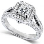 Diamond Engagement Ring 1 1/3 Carat in 14K White Gold