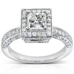 Diamond Engagement Ring 1 1/2 carat (ctw) in 14k White Gold