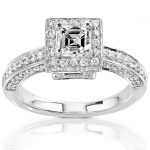 Diamond Engagement Ring 1 Carat (ctw) in 14K White Gold