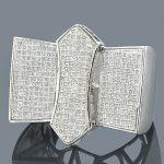 Affordable Mens Rings 10K Gold Diamond Ring 1.27ct