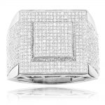 Affordable Mens Rings 10K Gold Diamond Ring 1.30ct