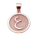Arabic Letter Ayn Initial Pendant Necklace in 9ct Rose Gold