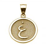 Arabic Letter Ghayn Initial Pendant Necklace in 9ct Gold