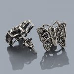 Black Diamond Jewelry: Butterfly Diamond Earrings 10K
