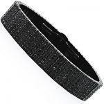 Black Diamond Jewelry for Men: 7 Row Black Stainless Steel Bracelet 26.40ct